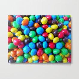 Crispy Colorful Candy Metal Print