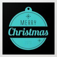 Christmas collection - Merry Christmas 2013 Art Print