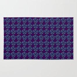 Blue Pentagram Rug