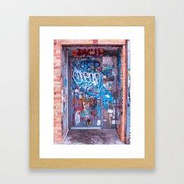 Bushwick, Brooklyn Street Art - Bowie Door Framed Art Print