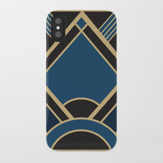 Art Deco New Tomorrow In Blue iPhone Case