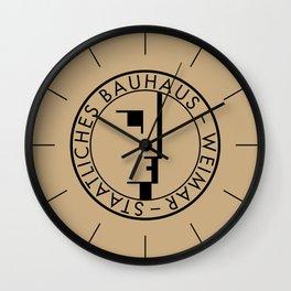 BAUHAUS LOGO / VINTAGE Wall Clock