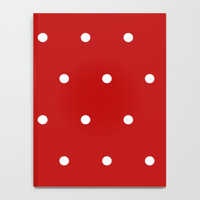 Red and White Polka Dots Pattern Notebook