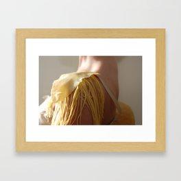Pasta epaulette Framed Art Print
