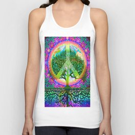 Tree of Life Peace Unisex Tank Top