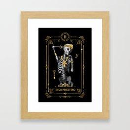 High Priestess II Tarot Card Framed Art Print