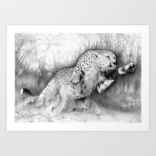 """In Pursuit"" (Cheetah) Art Print"
