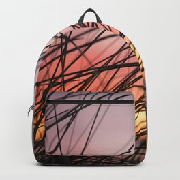 Grasses in the rainbow light of sunset Backpack