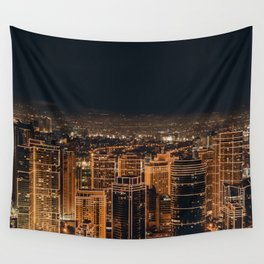 Somewhere in China – City by night Wall Tapestry