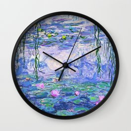 Claude Monet Water Lilies French Impressionist Art Wall Clock