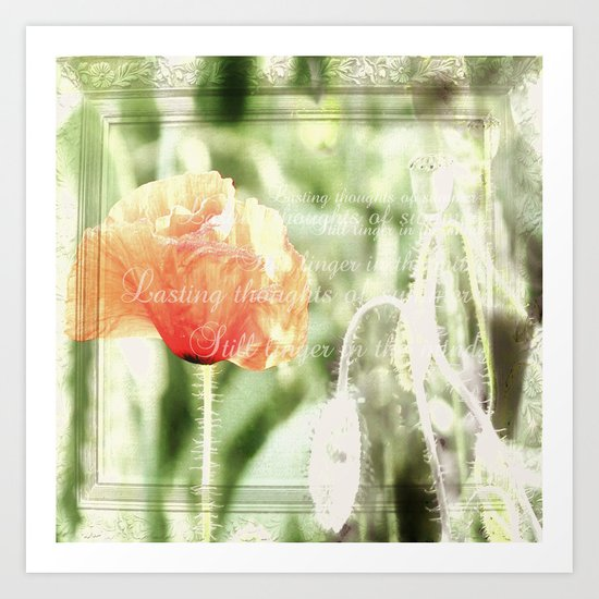 Lasting thoughts of summer Art Print