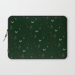 Quidditch Pattern - Slytherin Laptop Sleeve