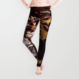 Tropical Blaze Floral Print Leggings