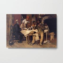 African American Masterpiece 'A Pastoral Visit' by Richard Norris Brooke Metal Print