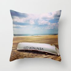 Ventnor Beach Throw Pillow