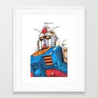 gundam Framed Art Prints featuring Gundam by Sheharzad
