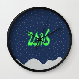 New year 2016 with snow Wall Clock