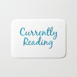 CURRENTLY READING blue Bath Mat