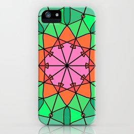 Abstract bohemian mandala fractal iPhone Case
