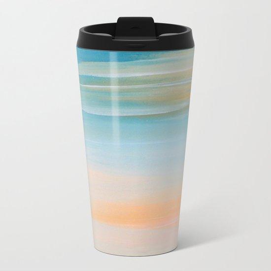 Fresh Colors Painterly Abstract Metal Travel Mug