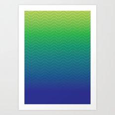 Wave pattern gradient background Art Print