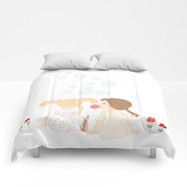 Blowing Bubbles Comforters