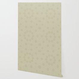 Ivory bridal lace mandala Wallpaper
