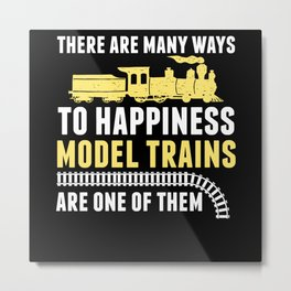 Model Train Toy Metal Print