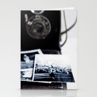 vintage camera Stationery Cards featuring camera by Ingrid Beddoes