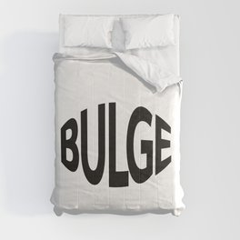 Bulge being bulged / One word creative typography design Comforters