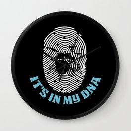 Drums It's In My DNA - Fingerprint Drummer Gift Wall Clock