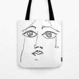 Woman gazing Tote Bag