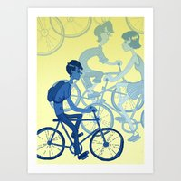 bicycles Art Prints featuring Bicycles by Van Huynh