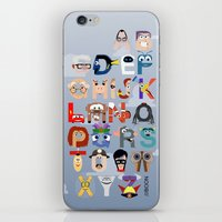 pixar iPhone & iPod Skins featuring P is for Pixar (Pixar Alphabet) by Mike Boon