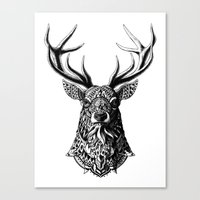 ornate Canvas Prints featuring Ornate Buck by BIOWORKZ