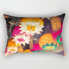 Flower Lanterns Rectangular Pillow