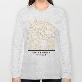EDINBURGH SCOTLAND CITY STREET MAP ART Long Sleeve T-shirt