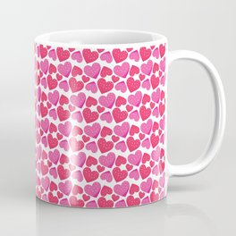 Valentines Day Hearts Repeated Pattern 110 Coffee Mug