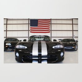 racing stripes Rug
