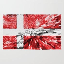 Extruded Flag of Denmark Rug