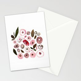Pink blush flowers Stationery Cards