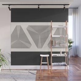 Crystal Vibration - Black White Abstract Wall Mural