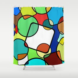 Shapes And Shades Shower Curtain