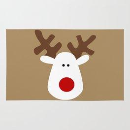 Christmas Reindeer-Brown Rug