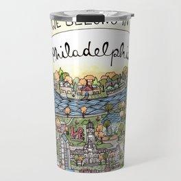 We Belong in Philadelphia! Travel Mug