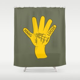 Palmistry Hang Loose Shaka Sign Shower Curtain