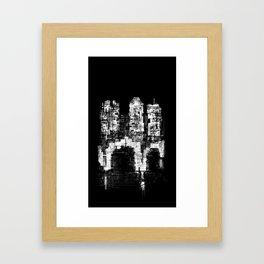 Structure Sprawl Framed Art Print