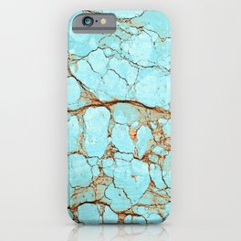 Rusty Cracked Turquoise iPhone Case