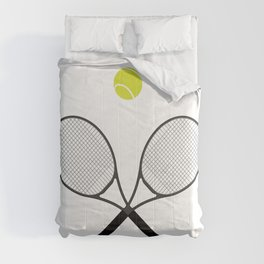 Tennis Racket And Ball 2 Comforters