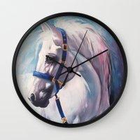 horse Wall Clocks featuring Horse by Slaveika Aladjova